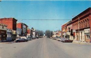 Ovid Michigan~Main Street North~Pepsi~Downtown Street Scene~1969 Postcard