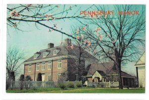 Pennsbury Manor Home of William Penn Bucks County PA Vintage Postcard