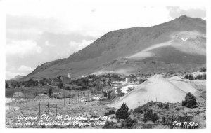 RPPC VIRGINIA CITY, NV Mount Davidson & Consolidated Mine ca 1950s Zan Postcard