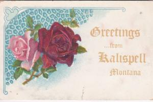 Montana Greetings From Kalispell With Roses