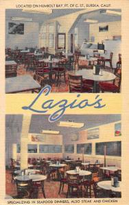 Eureka California Lazio's Sea Food Restaurant Humboldt County Postcard J70292