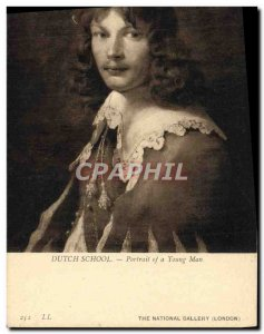 Postcard Old Dutch School Portrait Of A Young Man National Gallery London