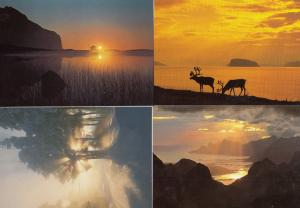 Norway Sunset In Snow 4x Beautiful 1980s Postcard s
