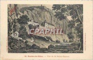 Old Postcard Bouches du Rhone Sainte Baume View
