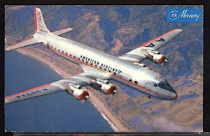 Aviation Airplane American Airlines DC 7 Mercury