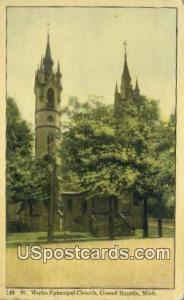 St Mark's Episcopal Church Grand Rapids MI Postal Used Unknown