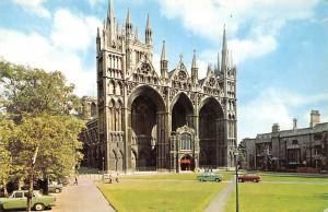 England Peterborough Cathedral, West Front, auto, cars