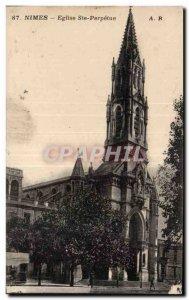 Old Postcard Nimes Church St. Perpetua