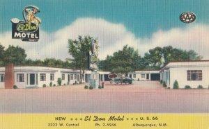 ALBUQUERQUE , New Mexico , 1930-40s ; El Don Motel ; RT 66 / Route 66
