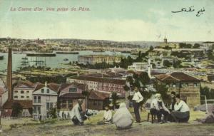 turkey, CONSTANTINOPLE PÉRA, Horn of Gold, Corne d'Or (1910s)