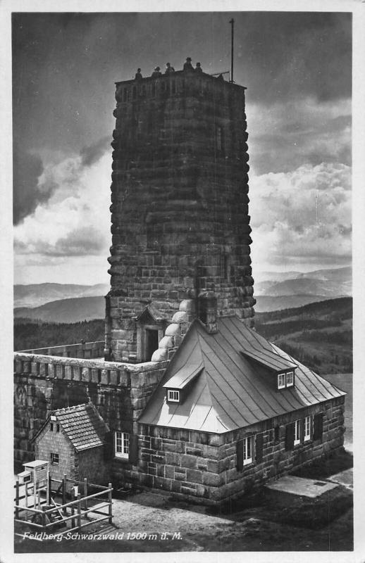 Feldberg Schwarzwald Tower Turm Postcard