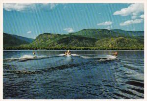 Canada British Columbia Water Skiing On Shuswap Lake