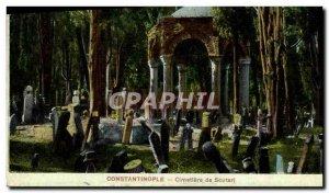 Postcard Old Constantinople Cemetery Scutari Turkey