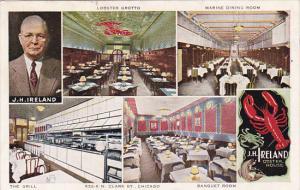 Illinois Chicago J H Ireland Oyster House Restaurant Multi View 1953
