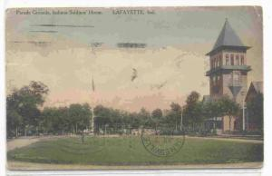 Parade Grounds, Indiana Soldiers' Home, Lafayette, Indiana, PU-1912