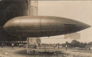 RP: Beta The Army Airship ; ALDERSHOT , UK , 1915 ; Blimp