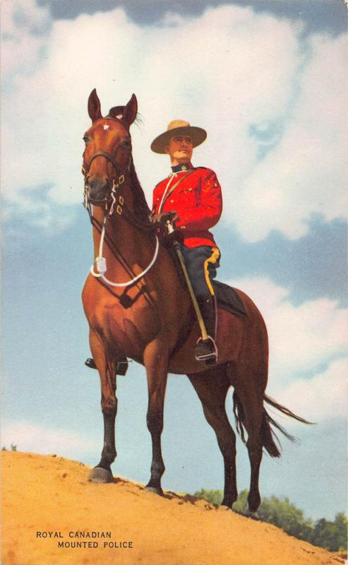 Royal Canadian Mounted Police, Canada, Early Postcard, Unused
