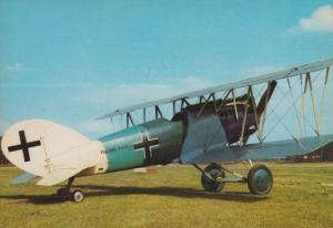 Pfalz d-xll 43c German Military Aircraft Plane Postcard