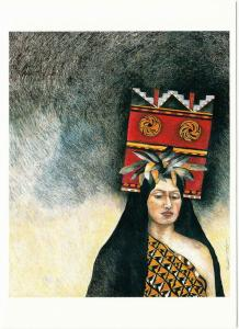 Her Heart Can Make a Slow Bud Open Patricia Wyatt Native American Art Postcard