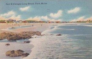 Maine York Surf & Cottages Long Beach 1956