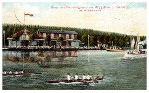 Germany  Gruss aus Neu-Helgoland am Muggelsee . Rowing