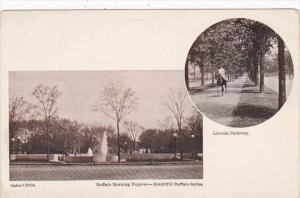 New York Buffalo Gates Circle and Lincoln Parkway