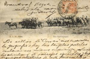 German South West Africa, Field Compagnie on Horseback (1902) Send to Uruguay
