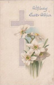 Easter Beautiful Flowers With Cross