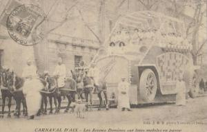 Carnaval D'Aix Indian Carnival Float French Postcard