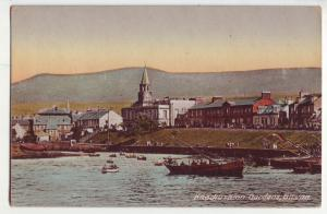 P904 old harbor view card boats town etc knockushion gardens girvan scotland