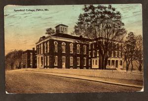 Postcard- Synodical College - Fulton, MO - Flag Cancel -1914
