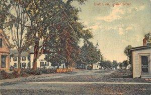 Clinton ME Church Street in 1910 Postcard