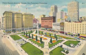 Union Square Entrance to Underground Garage San Francisco CA California - Linen