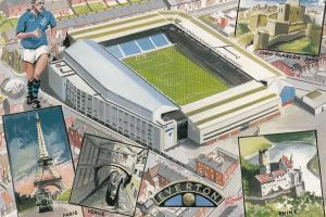 Goodison Park Everton Football Club 1995 Limited Postcard