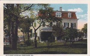 Maryland Frostburg Old Frost Mansion