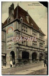 Old Postcard Luxeuil Les Bains House Francois 1er