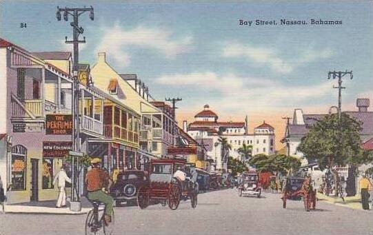 Bahamas Nassau Bay Street Curteich