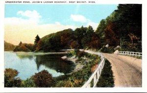 Massachusetts West Beckett Jacob's Ladder Roadway Greenwater Pond