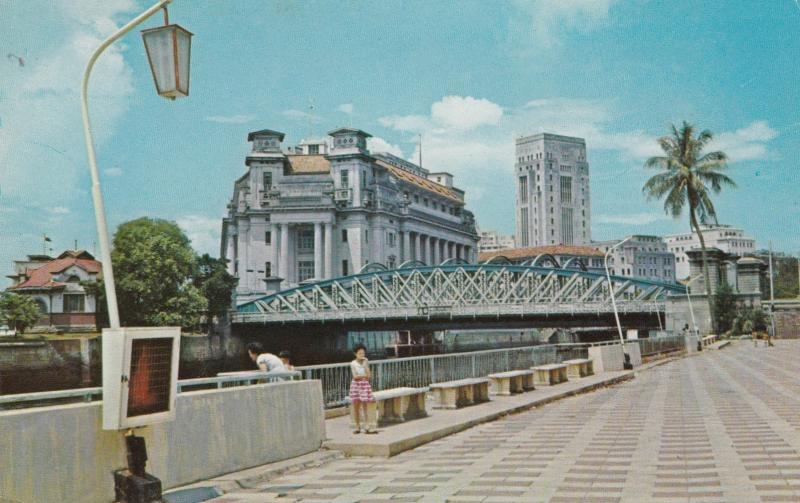 SINGAPORE , 50-60s ; Queen Elizabeth Walk & General Post Office