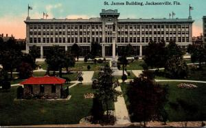 Florida Jacksonville Hemming Park and St James Building 1913