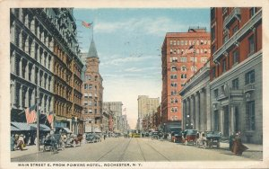 Main Street East from Powers Hotel - Rochester NY, New York - pm 1918 - WB