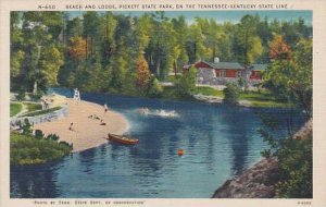 Tennessee Pickett State Park Beach And Lodge On The Tennessee Kentucky State ...