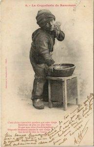 CPA AK 4 La Coquetterie du Ramoneur BERGERET (1138621)