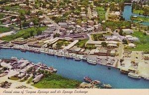 Florida Tarpon Springs Aerial View Of Tarpon Springs And Its Sponge Exchange ...