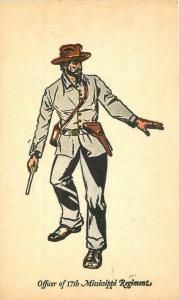 Artist impression Confederate Solider Civil War Military Postcard Wooster 426