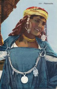 Algeria 533 Mabrouka Beautiful Lady Postcard 01.94