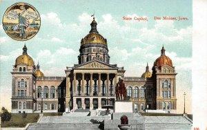 LP88 Des Moines  Iowa Postcard State Capitol