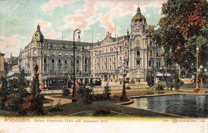 Kaiser Friedrich Platz, Nassauer Hof, Wiesbaden, Germany, 1904 Postcard, Unused
