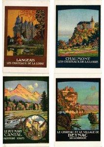 ADVERTISING TRAINS, CHEMIN DE FER POSTER STYLE 32 Vintage Postcards (L2736)