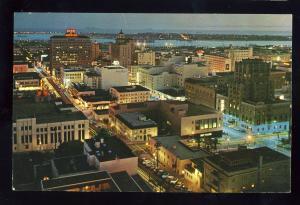 San Diego, California/CA/Calif Postcard, Aerial Night View Of Downtown